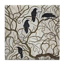 Four Ravens Tile Coaster