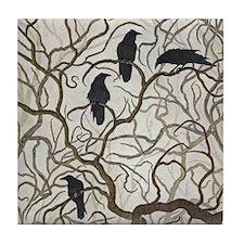 Four Ravens Tile Coaster
