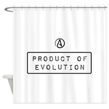 Product of Evolution Shower Curtain
