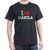 &amp;quot;I (muah) MANILA&amp;quot; Black T-Shirt