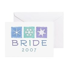 Winter Bride 2007 Greeting Cards (Pk of 10)