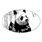 Panda Rectangle Decal