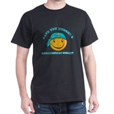 Cute Kazakhstani Smiley Design T-Shirt
