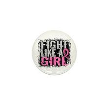 Fight Like a Girl 31.8 Breast Cancer Mini Button