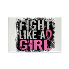 Fight Like a Girl 31.8 Breast Cancer Rectangle Mag