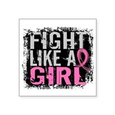 Fight Like a Girl 31.8 Breast Cancer Square Sticke