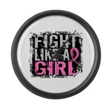 Fight Like a Girl 31.8 Breast Cancer Large Wall Cl