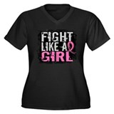 Fight Like a Girl 31.8 Breast Cancer Women's Plus