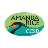 Elect Amanda Rice Oval Car Magnet