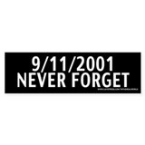 September 11th - Never Forget Bumper Bumper Sticke
