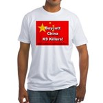 Boycott China K9 Killers Fitted T-Shirt
