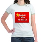 Boycott China K9 Killers Jr. Ringer T-Shirt