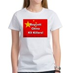 Boycott China K9 Killers Women's T-Shirt