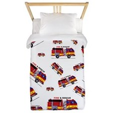 Fire Truck Twin Duvet