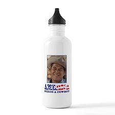 Ronald Reagan/Cowboy Sports Water Bottle