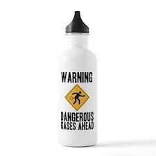 Warning Dangerous Gases Ahead Water Bottle