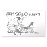 First Solo FLight (Plane) Decal