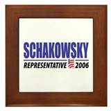 Schakowsky 2006 Framed Tile