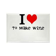 i love to make wine Rectangle Magnet