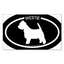"""Westie"" Black Oval Decal"