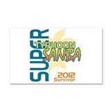 Typhoon Sanba Survivor Car Magnet 20 x 12