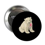 Breast cancer awareness polar bear 2.25&quot; Button