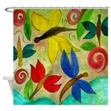 Dragon Flies Art Shower Curtain
