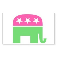 Preppy Elephant Oval Decal Decal