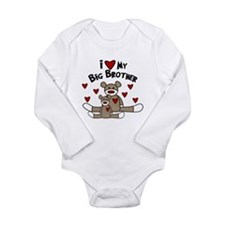 Love BIG Brother SOCK Monkey Body Suit