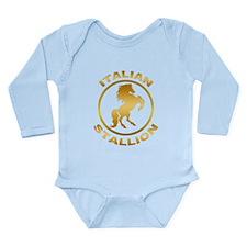 Italian Stallion Long Sleeve Infant Bodysuit