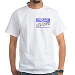 I'm With Stupid Hello Sticker White T-Shirt