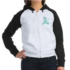 Ovarian Cancer Awareness Women's Raglan Hoodie