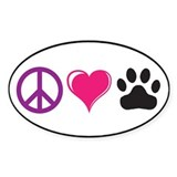 Peace, Love, Paws Custom Decal