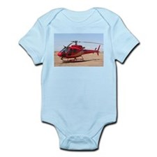 Helicopter, red Infant Bodysuit