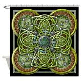 Green Celtic Tapestry Shower Curtain
