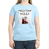 Pollution Kills Ash Grey T-Shirt T-Shirt