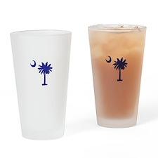 South Carolina Palm Tree State Flag Drinking Glass