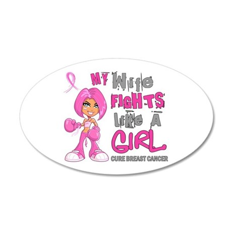 Fights Like a Girl 42.9 Breast Cancer 20x12 Oval W