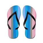 Rainbow - pink to blue, Flip Flops