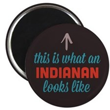 "Indianan Looks Like 2.25"" Magnet (100 pack)"