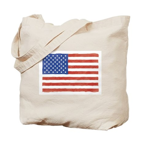 Watercolor USA Flag: Tote Bag