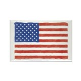 Watercolor USA Flag: Rectangle Magnet (10 pack)