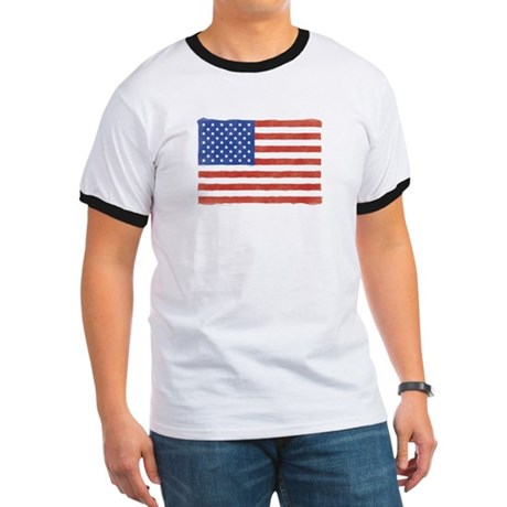 Watercolor USA Flag: Ringer T