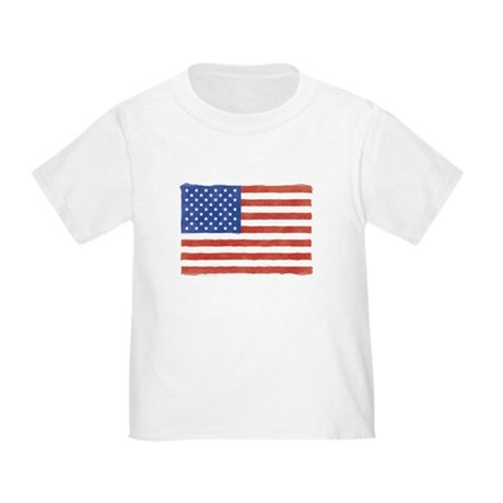 Watercolor USA Flag: Toddler T-Shirt