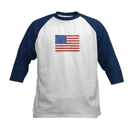 Watercolor USA Flag: Kids Baseball Jersey