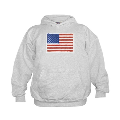 Watercolor USA Flag: Kids Hoodie