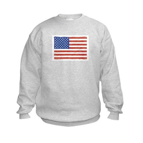 Watercolor USA Flag: Kids Sweatshirt