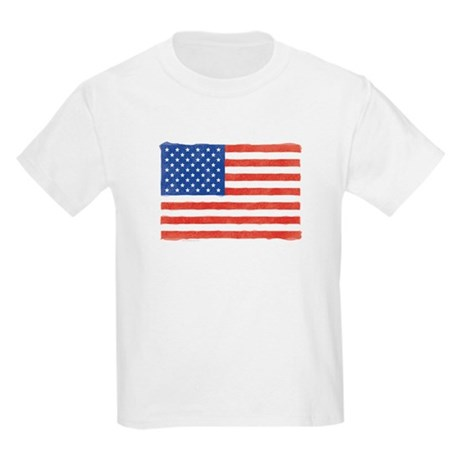 Watercolor USA Flag: Kids T-Shirt