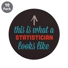 "Statistician Looks Like 3.5"" Button (10 pack)"