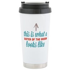 Sister Of The Groom Ceramic Travel Mug